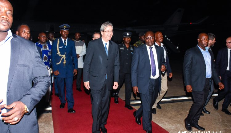 Photo of Italian PM arrives in Ghana for bilateral talks