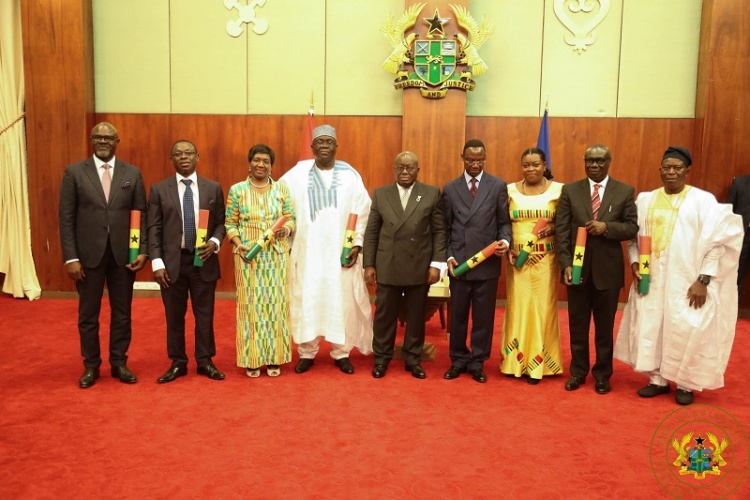 Photo of President Akufo-Addo swears in eight new Envoys