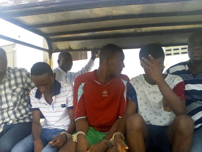 Photo of Bantama gang rapists cry in court