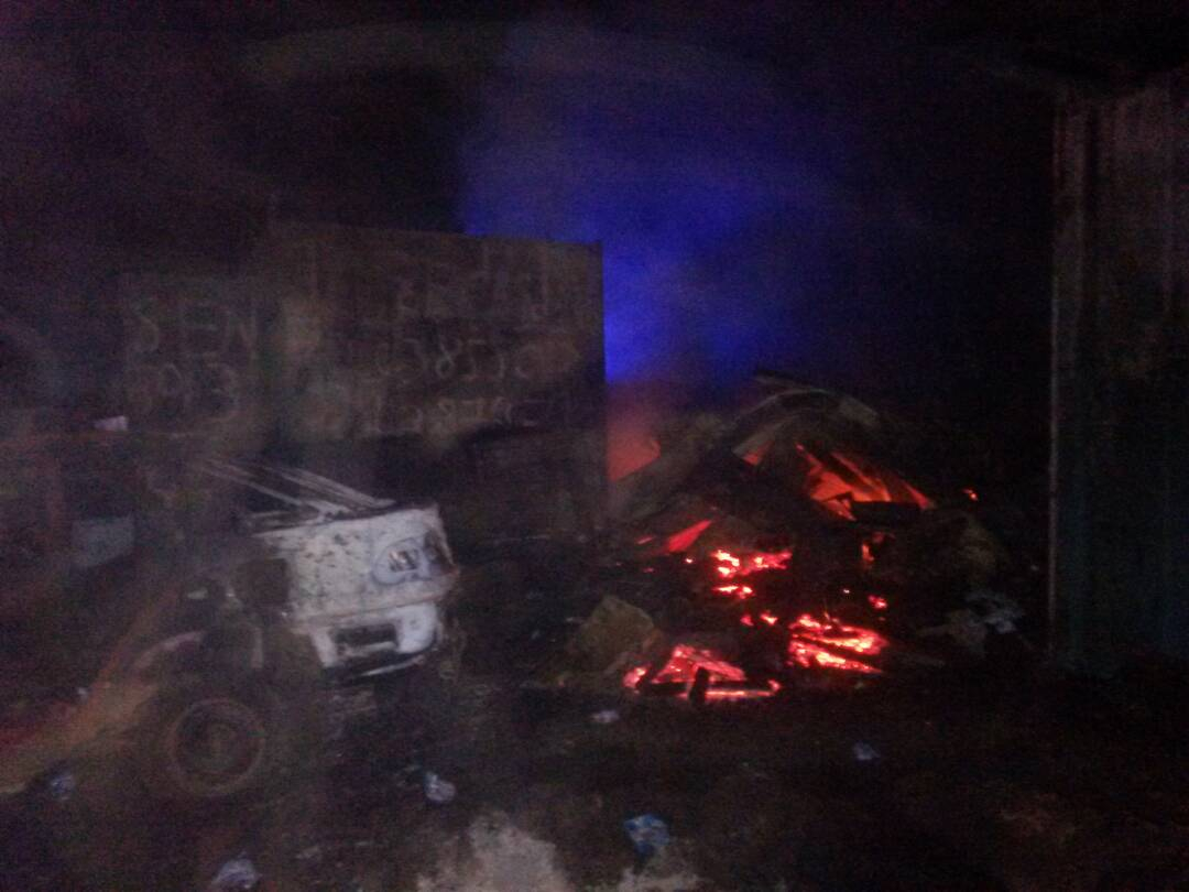 Fire Guts Cars Repair Shops At Sofoline Otec Fm Online
