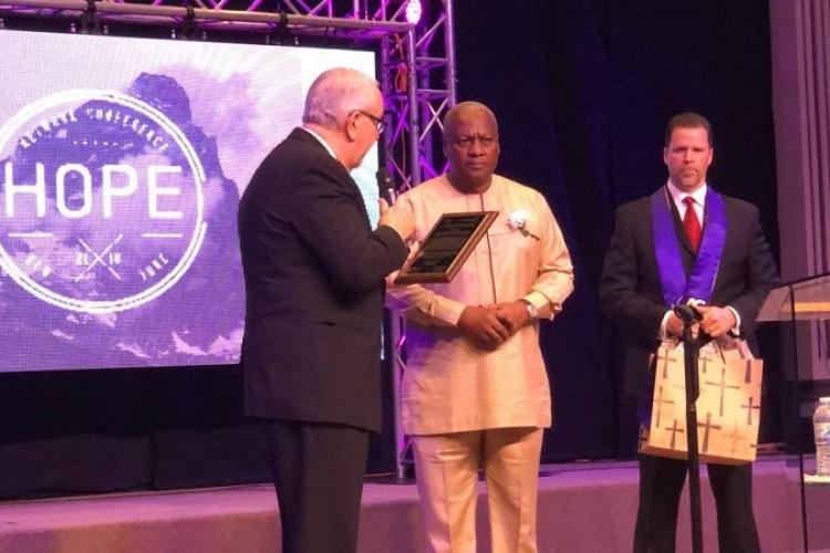 Photo of Assemblies of God Church, New York honours former President Mahama