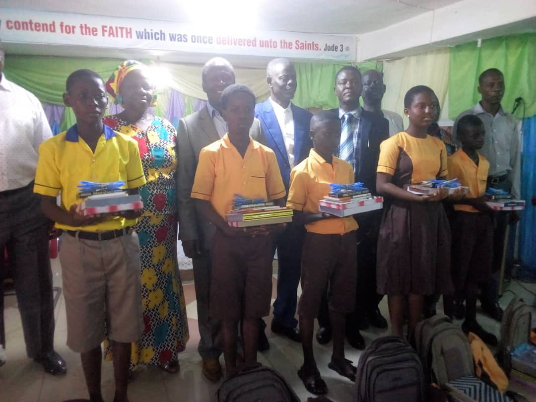 Photo of Pankrono: Deeper Life Aid presents educational materials to  five needy students