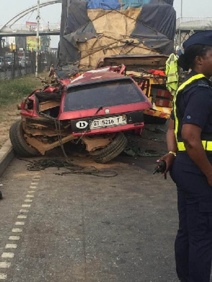 Photo of 2 killed after truck run into parked truck at Tech junction