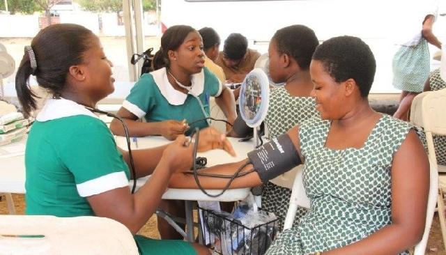 Photo of Komfo Anokye Teaching Hospital nurses resume work