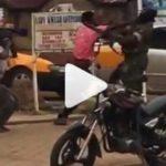 Lockdown: Man punches military man for punishing him in Kumasi (Video)