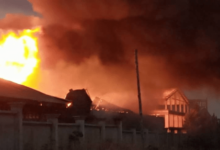 Photo of A/R: Fire Guts Royal Foam Factory at Asokore-Mampong
