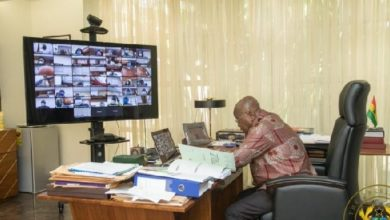 Photo of Photos: Nana Addo chairs 80th cabinet meeting via Zoom