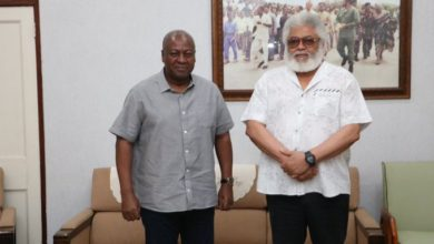 Photo of Mahama meets Rawlings to discuss party matters
