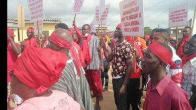 Photo of Tension Brews In Senya Beraku As chiefs demonstrate Against Kwamena Duncan, George Andah and others