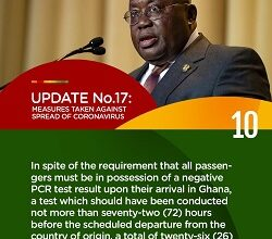 Photo of Infographics: Akufo-Addo's 17th address to the nation on measures to fight coronavirus