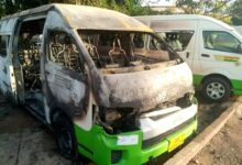 Photo of STC bus attacked by alleged secessionist group, drivers beaten, bus burnt