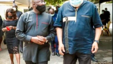 Photo of Bawumia leads gov't delegation to mourn with Rawlings and his family