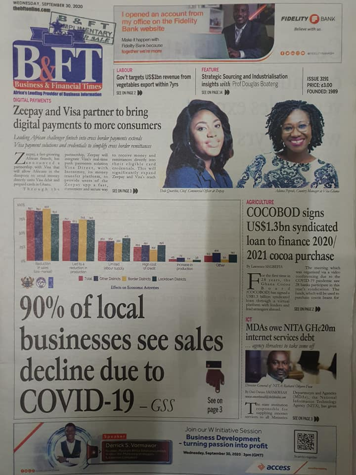 Newspaper headlines of Wednesday, September 30, 2020 94