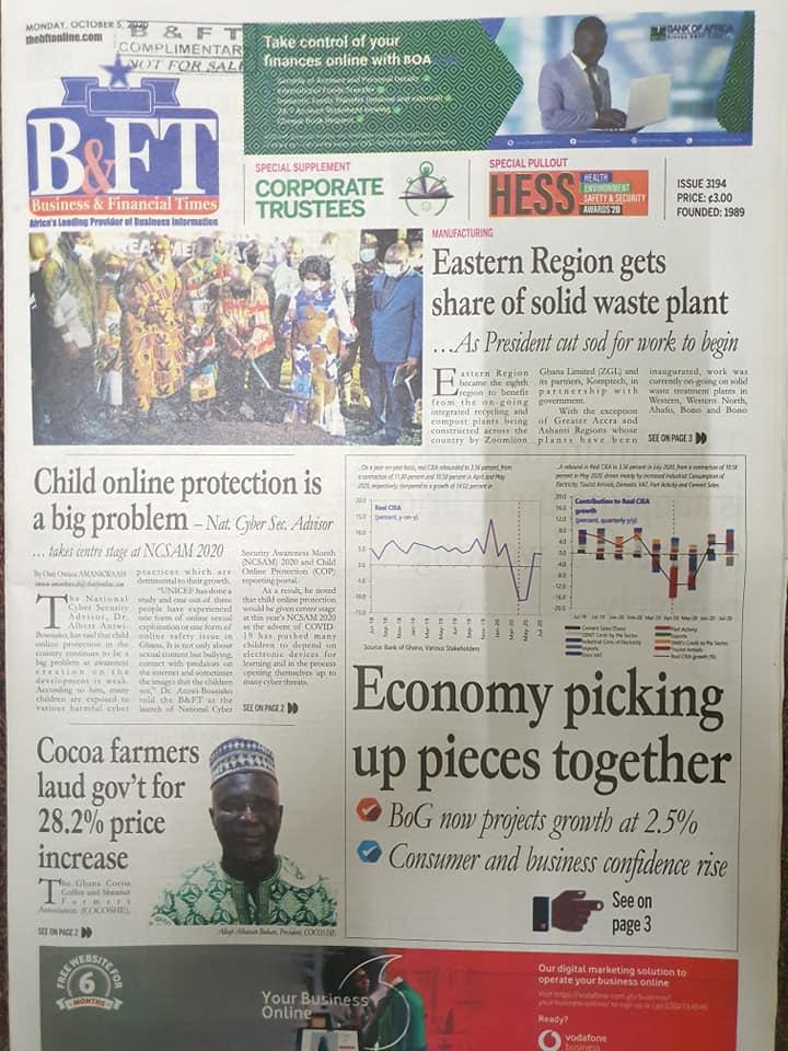 Newspaper headlines of Monday, October 5, 2020 95