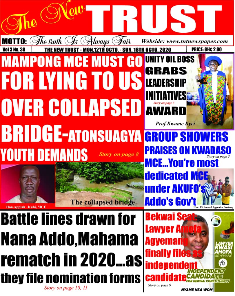 Newspaper headlines of Monday, October 12, 2020 11