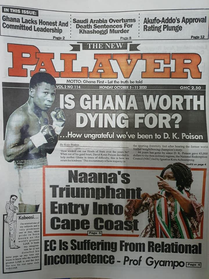 Newspaper headlines of Monday, October 5, 2020 98