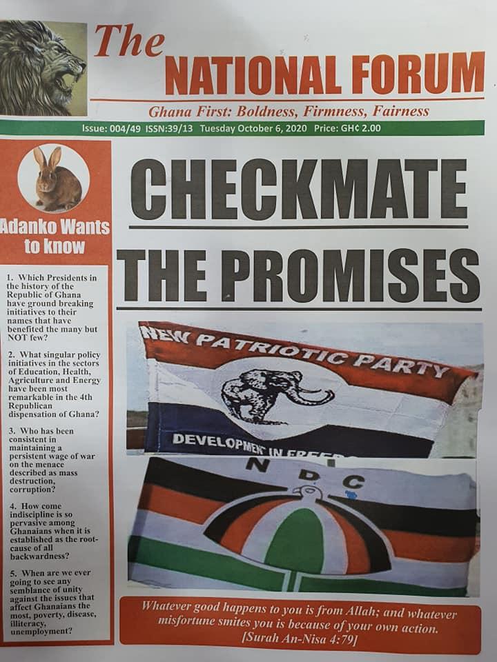 Newspaper headlines of Tuesday, October 6, 2020 71