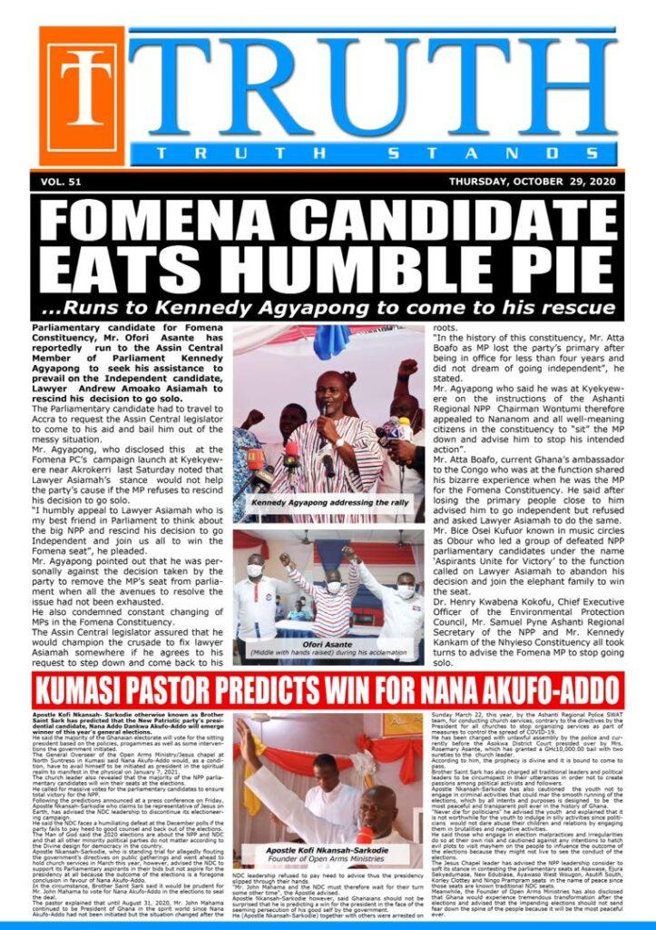 Newspaper headlines of Friday, October 30, 2020 55