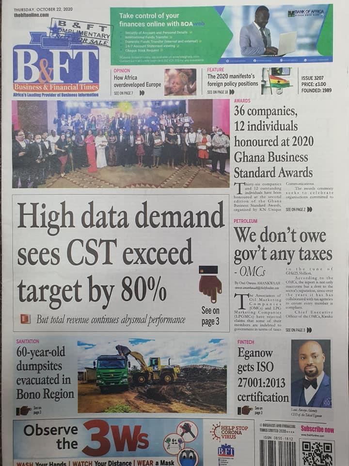 Newspaper headlines of Thursday, October 22, 2020 44