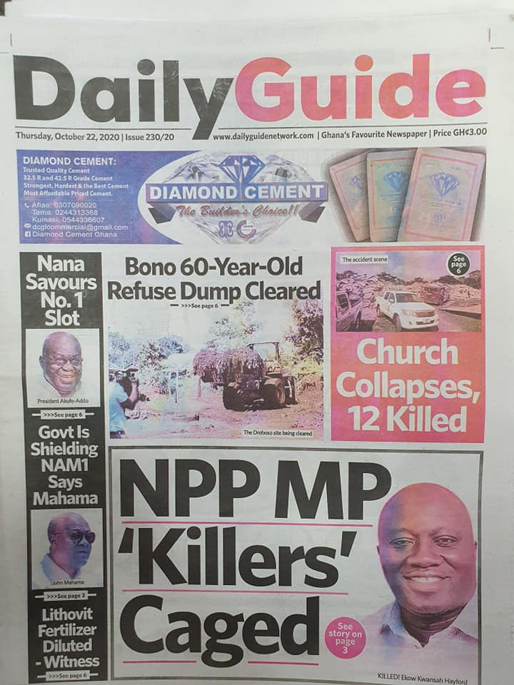 Newspaper headlines of Thursday, October 22, 2020 53