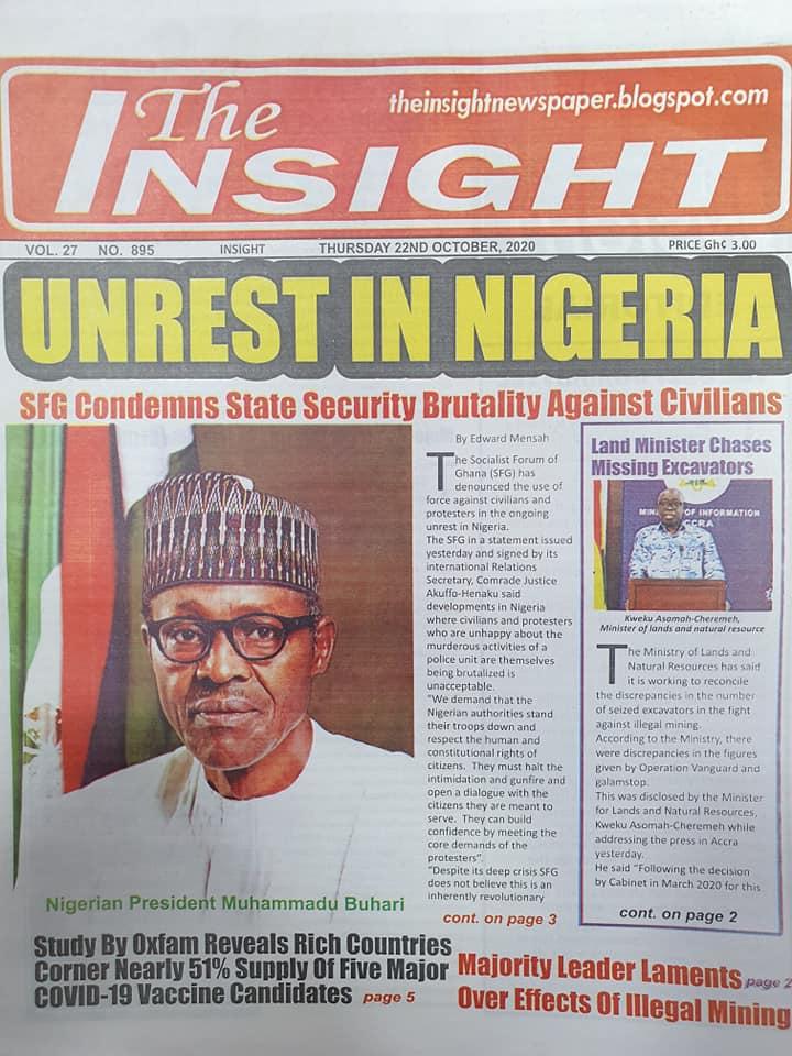 Newspaper headlines of Thursday, October 22, 2020 50