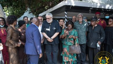 Photo of Photos: Akufo-Addo consoles Rawlings on mum's death