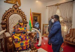 Photo of Ex-President of Côte d'Ivoire visits Asantehene