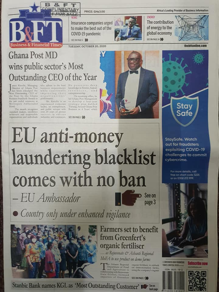 Newspaper headlines of Tuesday, October 20, 2020 33
