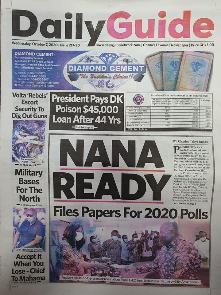 Newspaper headlines of Wednesday, October 7, 2020 63