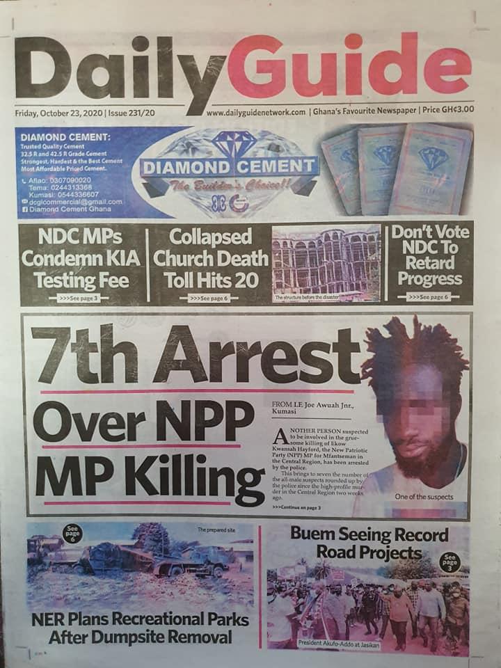Newspaper headlines of Friday, October 23, 2020 46