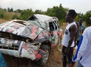 Photo of Three NDC executives involved in car accident