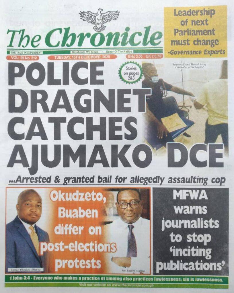 Newspaper headlines of Tuesday, December 15, 2020 40
