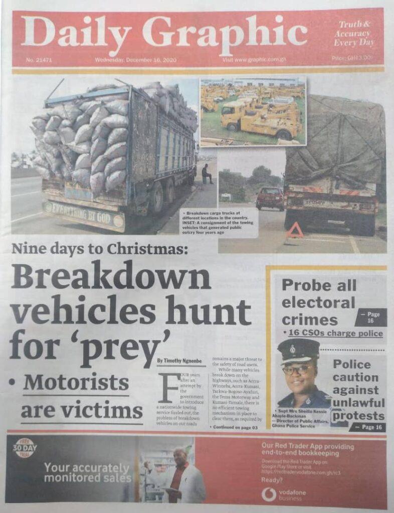 Newspaper headlines of Wednesday, December 16, 2020 57
