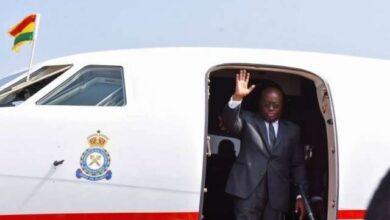 Photo of Akufo-Addo leaves Ghana for Ivory Coast, Guinea and UK