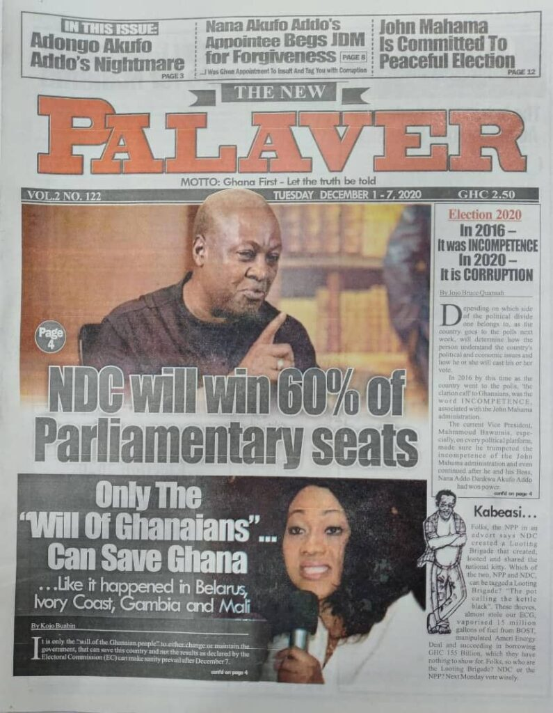 Newspaper headlines of Tuesday, December 1, 2020 22