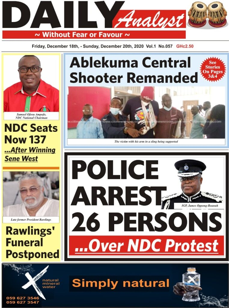 Newspaper headlines of Friday, December 18, 2020 26