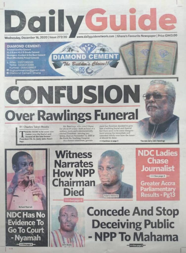 Newspaper headlines of Wednesday, December 16, 2020 60