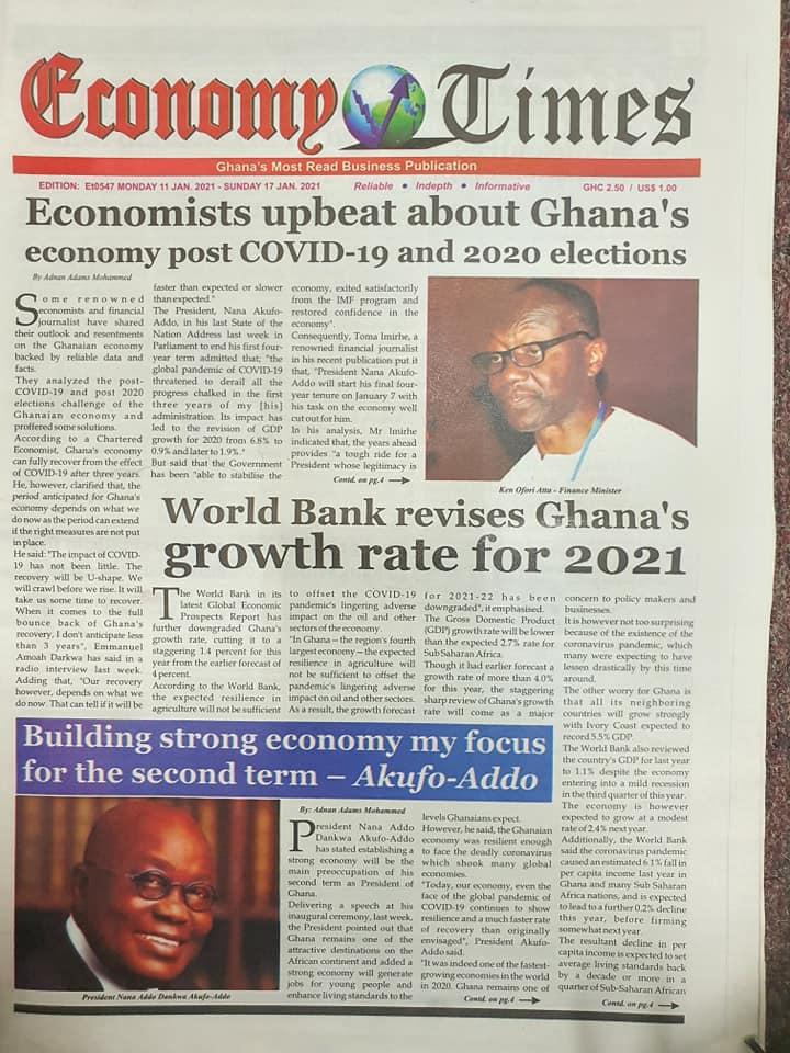 Newspaper headlines of Monday, January 11, 2021 76