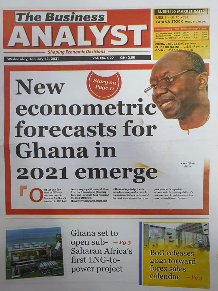 Newspaper headlines of Wednesday, 13 January , 2021 75
