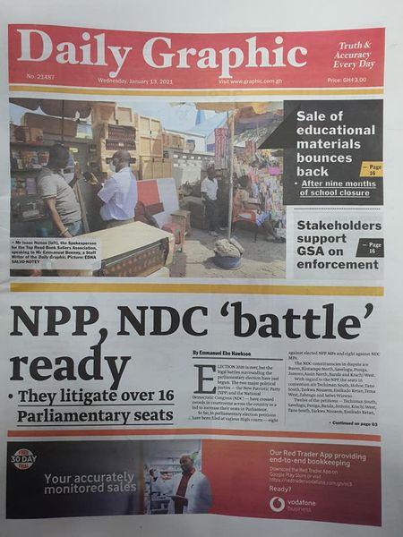 Newspaper headlines of Wednesday, 13 January , 2021 76