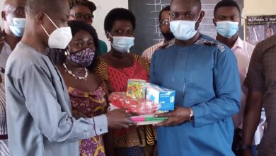 Photo of Photos: Ejisu MP donates uniforms, educational materials to schools on 'My first day at school'