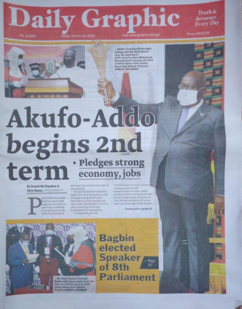 Newspaper headlines of Friday, January 8, 2020 50