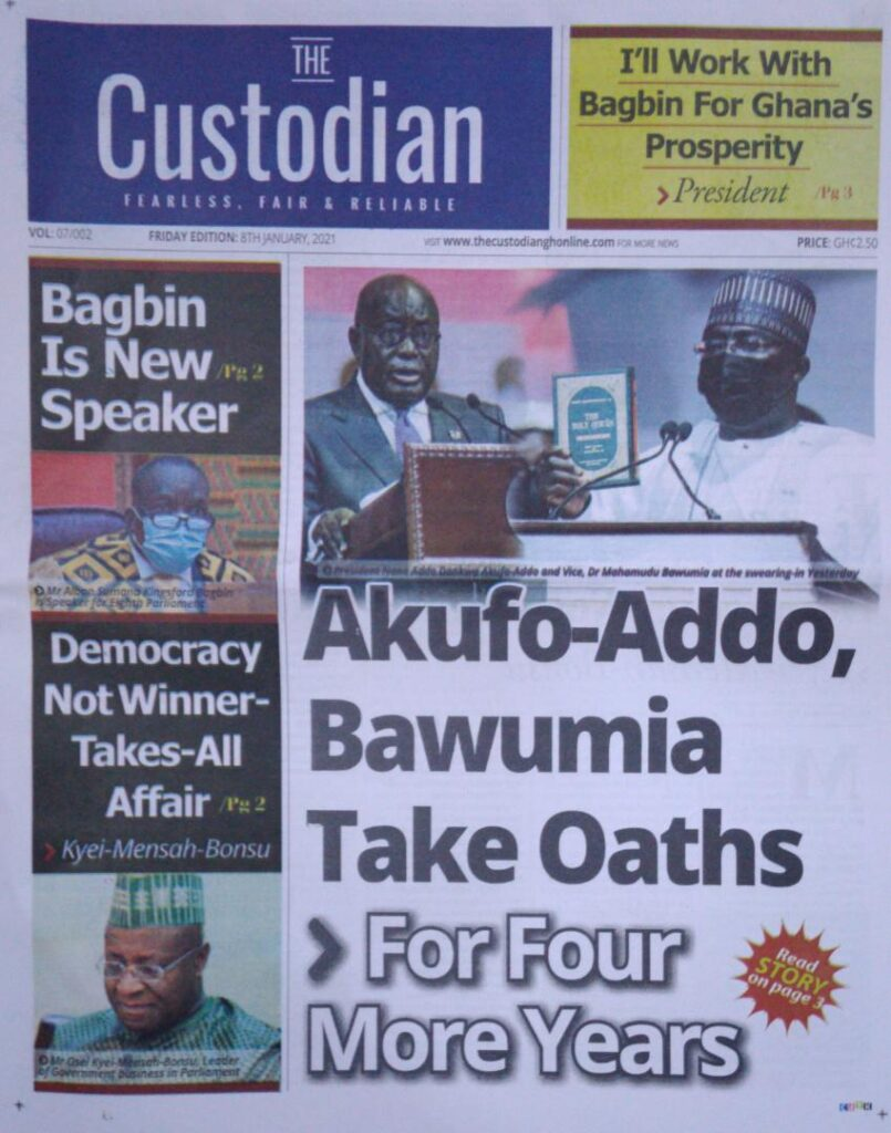 Newspaper headlines of Friday, January 8, 2020 52