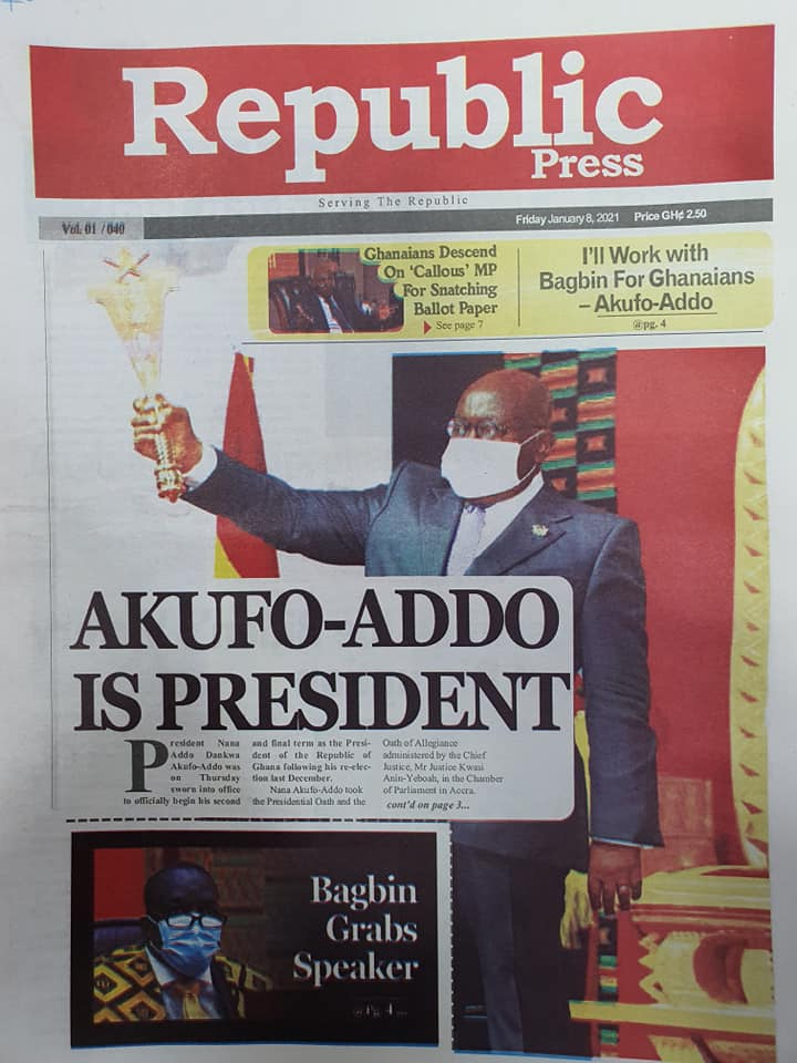 Newspaper headlines of Friday, January 8, 2020 60