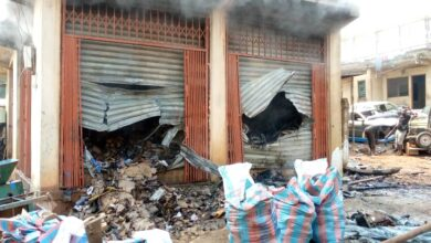 Photo of Kumasi: Another fire  sweeps Suame Magazine; spare parts worth millions burnt