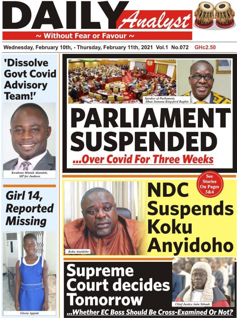 Newspaper headlines of Wednesday, February 10, 2021 23