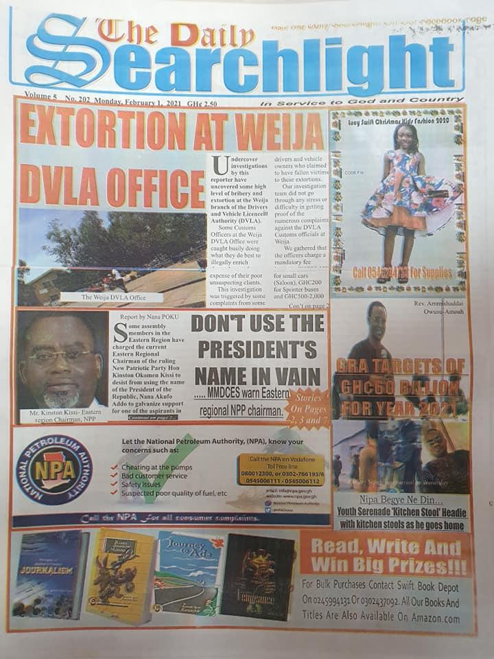 Newspaper Headlines Of Today February 1st 2021 86