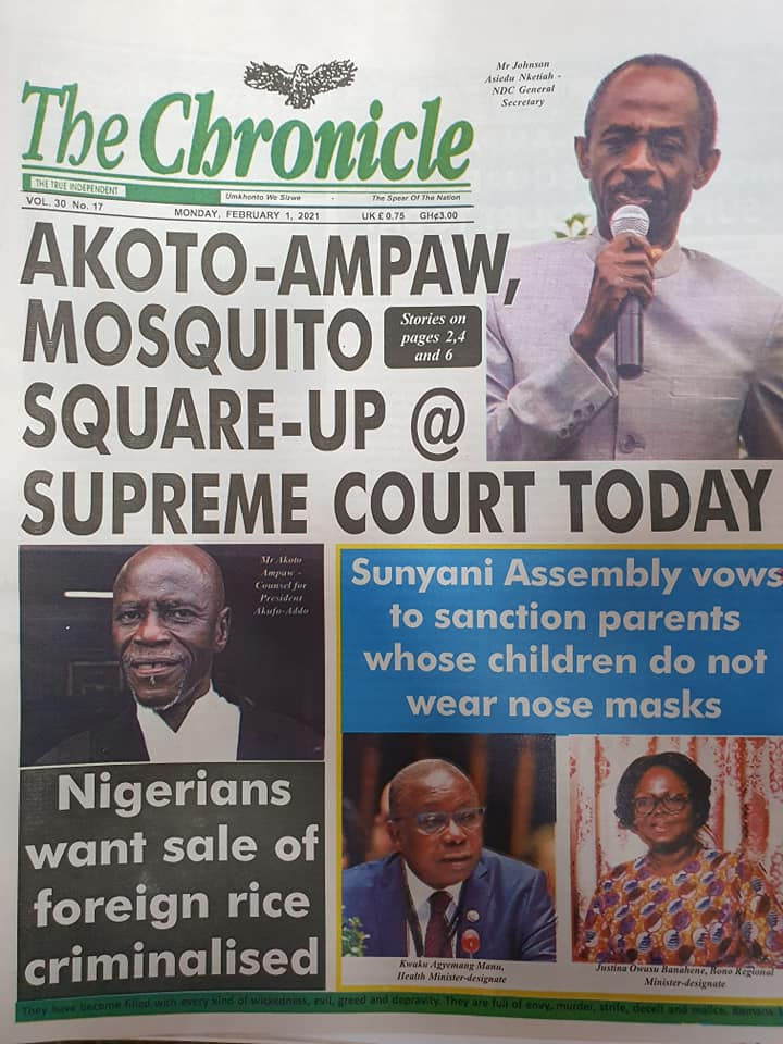Newspaper Headlines Of Today February 1st 2021 87