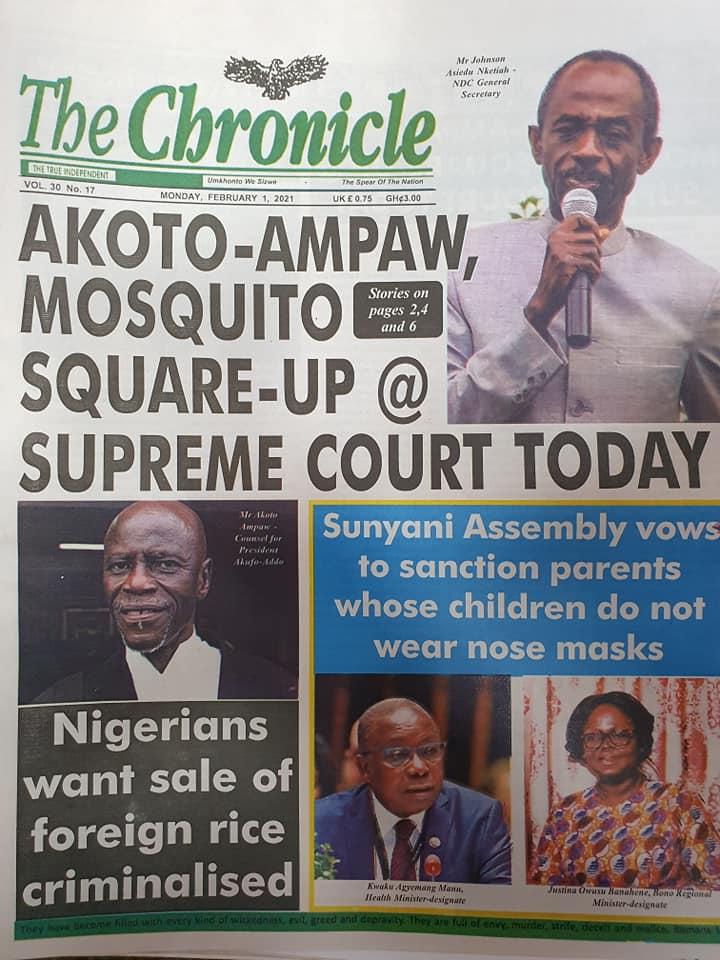 Newspaper Headlines Of Today February 1st 2021 87