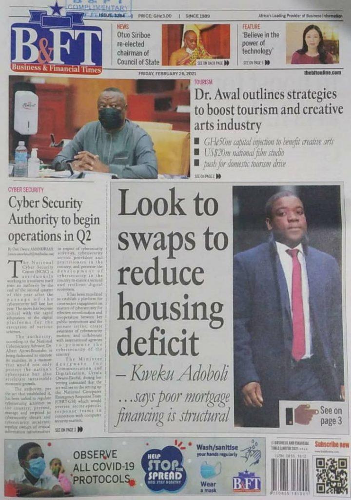 Newspaper headlines Of Friday, February 26, 2021 32